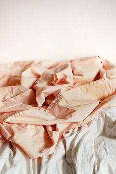 Peach sheets.