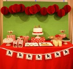 rudolph the red nosed reindeer dessert table