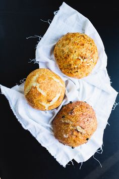 3 no-knead crusty bread