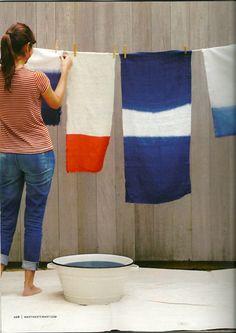 Dip dye fabric