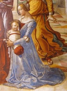Colours in Italian dress.  Renaissance baby. Costume. Dress. Italy