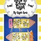 Back to School Pencil Glyph - Glyph Girls - TeachersPayTeachers.com