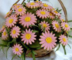 Daisy cookie bouquet