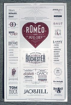 Typographic Matchmaking Poster | Must be printed