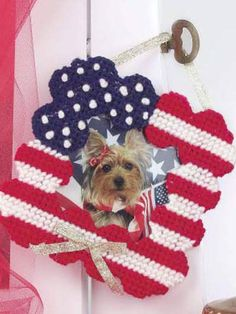 Patriotic Picture Frame free plastic canvas pattern of the day from freepatterns.com 8/16/13