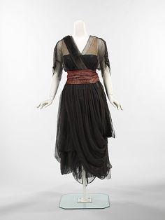 Dinner Dress - Drécoll, ca.1914-1916 - The Metropolitan Museum of Art