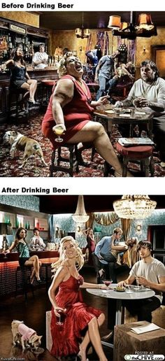 Before/after beer