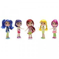Five Toys R Us exclusive dolls of Strawberry Shortcake, Cherry Jam, Lemon Meringue, Orange Blossom, and Raspberry Torte.