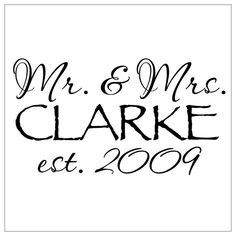 Wedding Gift Wall Decal Mr & Mrs your by FraidyCatSentiments, $20.00