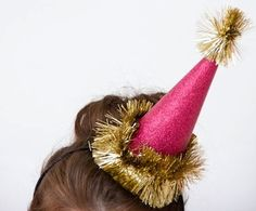 Homemade New Year's Eve party hats found at Studio DIY