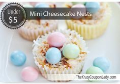 Mini Easter Cheesecake Nests
