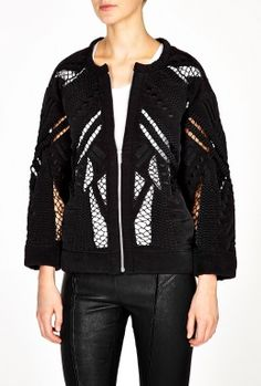 Senufia Cotton Mesh Panel Jacket by IRO