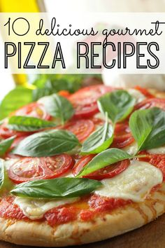 From bacon-basil pesto & chicken, to prosciutto & arugula, to spicy mango with black beans & zucchini, this list of gourmet pizza recipes has something the whole family can enjoy!