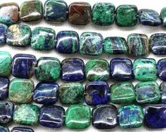 AI021 Azurite 12mm Square gemstone for making jewely