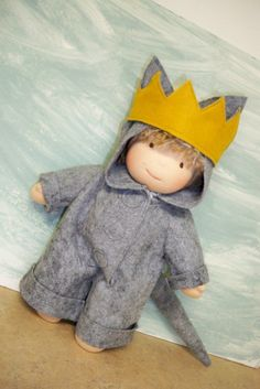"Waldorf doll Wool ""Max"" outfit"