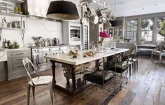Eating together: The open plan dining room has plenty of room for Paltrow and Martin to entertain their celebrity friends based in Hollywood