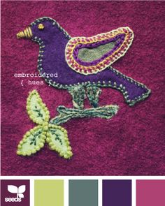 embroidered hues