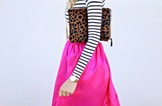 << patterns and prints >> #style #fashion #leopard #stripes #pink