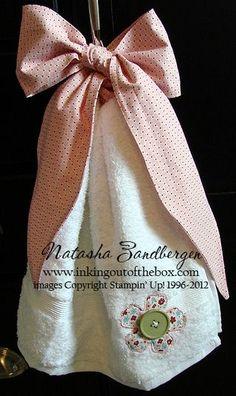 Stampin' Up!  Twitterpated Fabric  Natasha Zandberg  hand towel