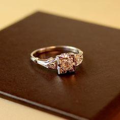 Oooo. Aurelia Diamond Vintage Engagement Ring circa 1950 by TurtleLoveCo, $830.00