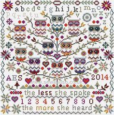 Owl Cross Stitch Kits | home cross stitch kits riverdrift house cross stitch kits