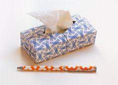 Mini origami Kleenex box - How About Orange