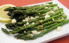 Roasted Asparagus with Feta:   A+ Will make again.