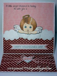 Valentine's Day card my with Peachy Keen and Jaded Blossom stamps