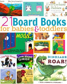 Board Books For Babies and Toddlers - great go to guide for baby showers and first birthdays!