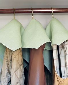 Dust Jackets - Twenty-inch cloth napkins (or same-size squares of fabric) become protective covers