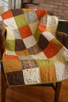 Another block quilt.  Great fall colors and patterns.