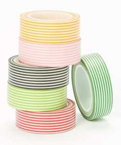 Love this Stripe Washi Tape Set by Two Berry Creative on #zulily! #zulilyfinds deco tape, tape set, washi tape, tape fetish
