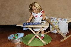 """MADE: Pieces For Reese: 18"""" Doll: Folding Ironing Board"""