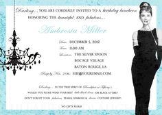 Breakfast at Tiffanys Bridal Shower Invitation / Breakfast at Tiffanys Birthday Invitation Digital File You Print 5x7