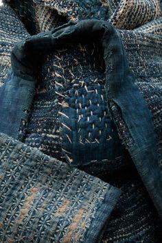 sashiko stitching … Source: indigovy-drak