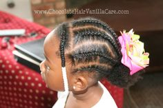 Cornrows into a puff with a front side bang #naturalhair