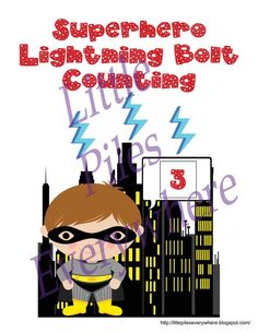 Superhero Lightning Bolt Counting