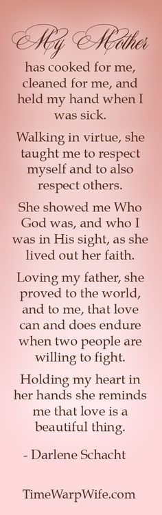 My mother, my family, my friend...