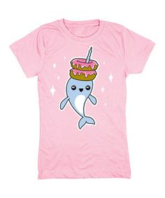 Light Pink Narwhal Donut Stack Fitted Tee - Girls by  #zulily #zulilyfinds