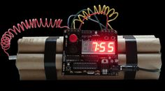 Defusable Bomb Alarm Clock - Probably not the best alarm clock to take with you on a trip but still amazingly designed - $42.95