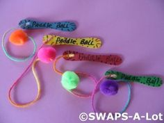 Paddle ball girl scout swap idea.