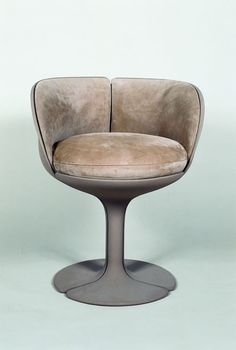 Pierre Paulin; Lacquered Aluminum 'L'Elysse' Chair for Alfa International, 1973. http://www.pixelcreation.fr/nc/galerie/vo...
