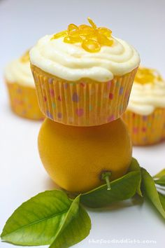 Lemon cupcakes #cupcake #cupcakes #sweet #treat #snack #cake #bakedgoods #bake #recipe #baking #favorite #good #tasty #dessert