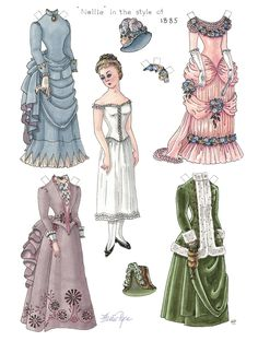 Victorian print out paper doll