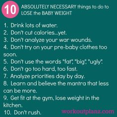 Losing baby weight?