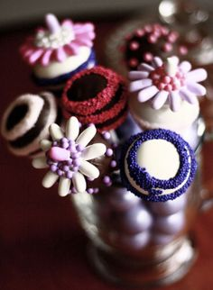 Gorgeous Candy Cake Pops decorated with candy pearls, pastilles, and nonpareils.