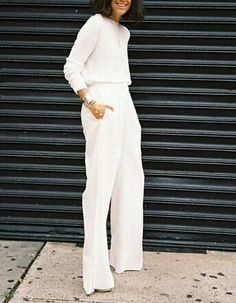 Leandra Medine // white on white #style #fashion