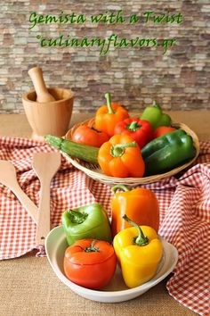Gemista with a Twist (Stuffed Tomatoes and Peppers)