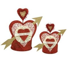 Amazon.com : Dee Foust Valentine Nest Crown Containers Set of Two : Other Products : Everything Else