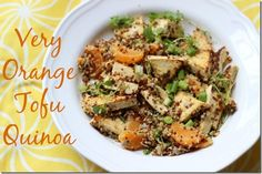 Very Orange Tofu Quinoa
